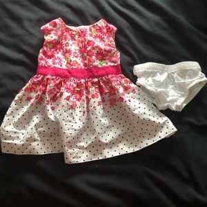 Spring dress and matching diaper cover
